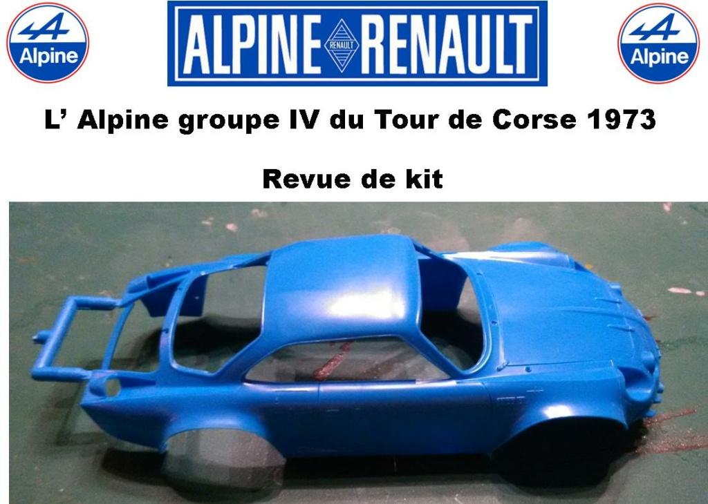 Fil rouge 2021 * Alpine A110 Groupe IV Tour de Corse 1973  1/24 Heller 80745  0315