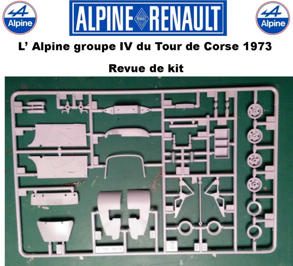 Fil rouge 2021 * Alpine A110 Groupe IV Tour de Corse 1973  1/24 Heller 80745  0515