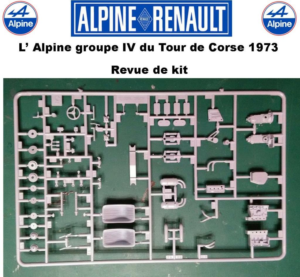 Fil rouge 2021 * Alpine A110 Groupe IV Tour de Corse 1973  1/24 Heller 80745  0614