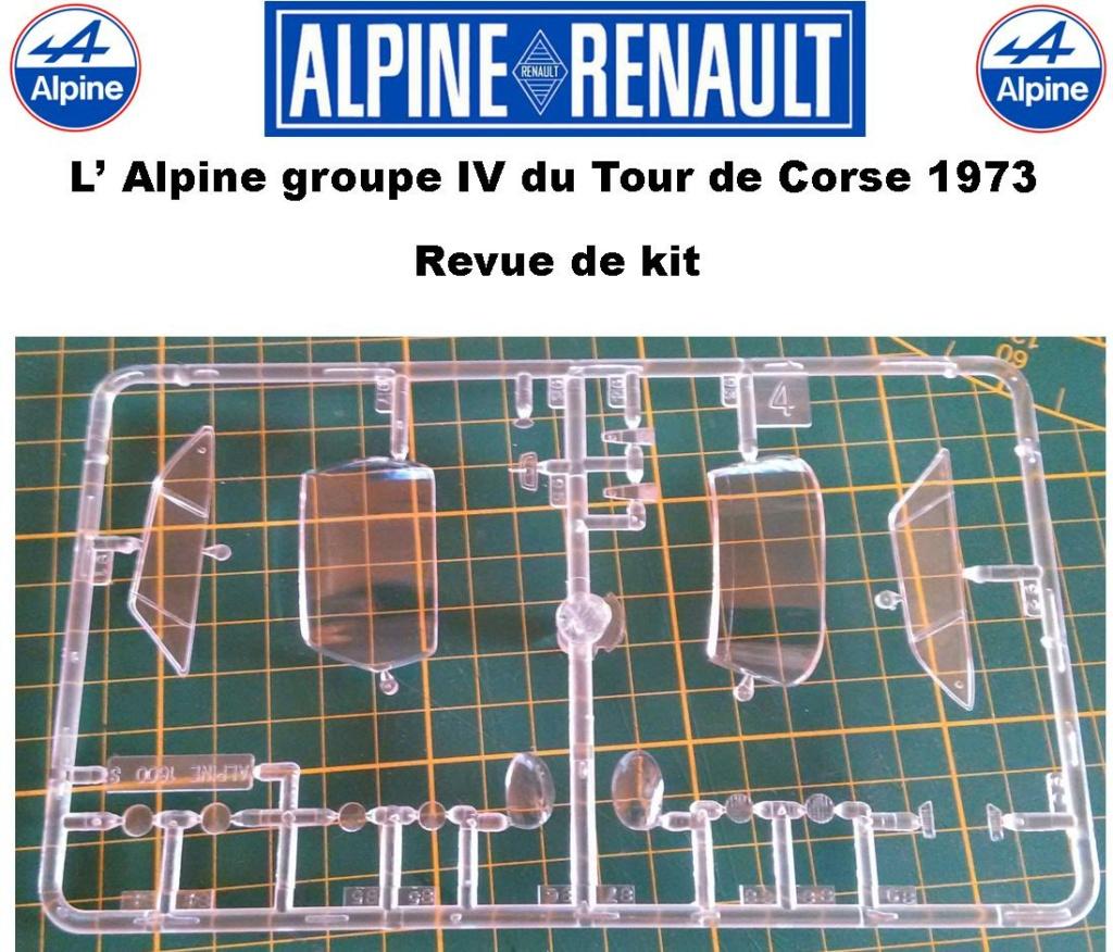 Fil rouge 2021 * Alpine A110 Groupe IV Tour de Corse 1973  1/24 Heller 80745  0715