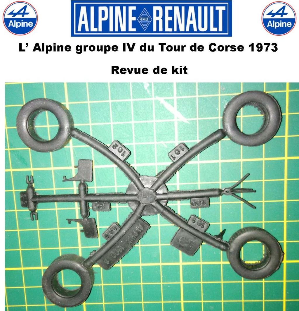 Fil rouge 2021 * Alpine A110 Groupe IV Tour de Corse 1973  1/24 Heller 80745  0811