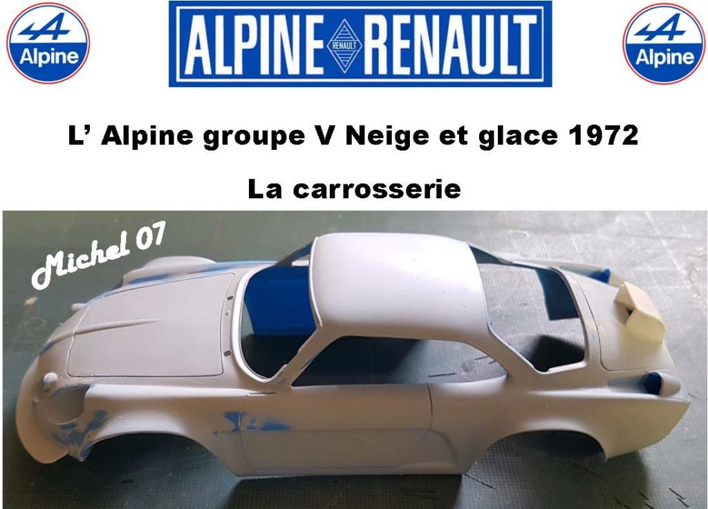 Fil rouge 2021 * Alpine A110 Groupe V Neige et glace 1972 1/24 Heller 80745 + scratch 10_210