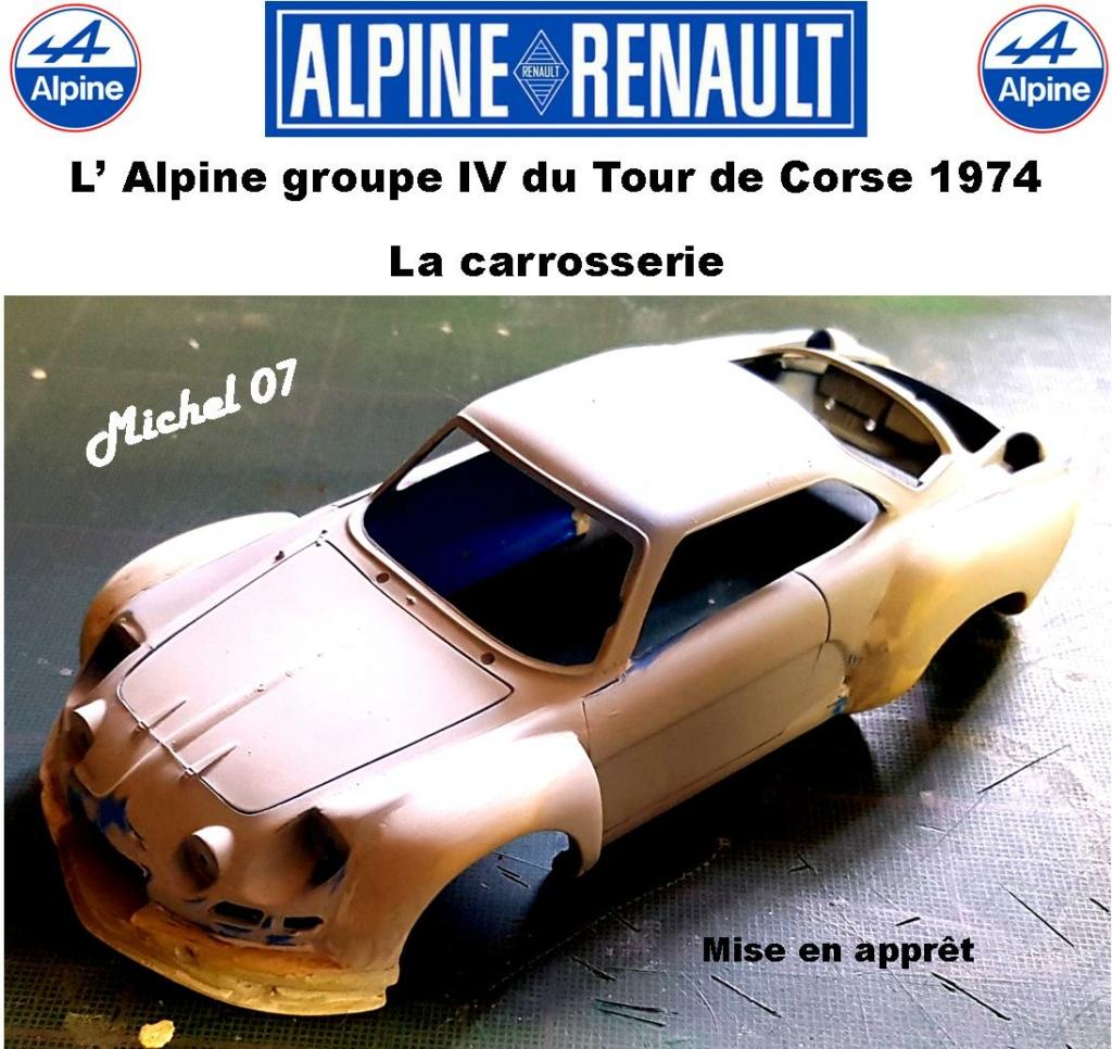 Fil rouge 2021 * Alpine A110 Groupe IV Tour de Corse 1974 1/24 Heller 80745 + transkit 10_410