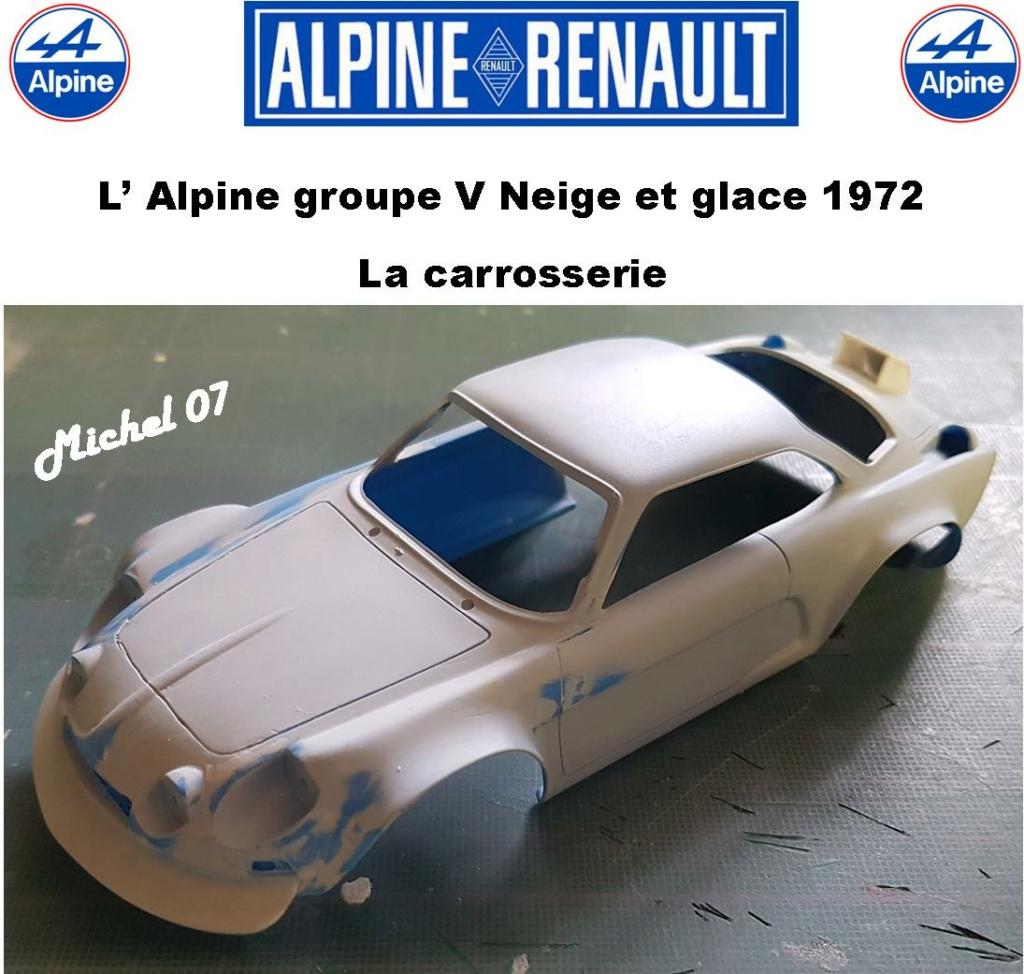 Fil rouge 2021 * Alpine A110 Groupe V Neige et glace 1972 1/24 Heller 80745 + scratch 11_210