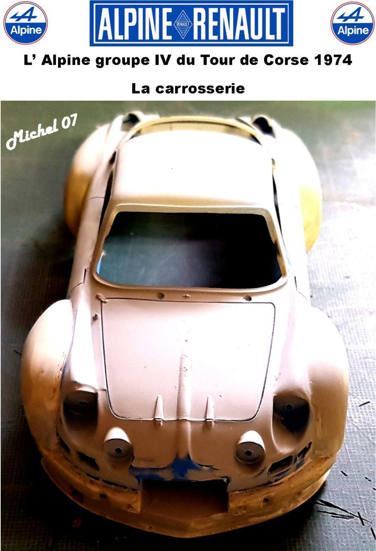 Fil rouge 2021 * Alpine A110 Groupe IV Tour de Corse 1974 1/24 Heller 80745 + transkit 11_410
