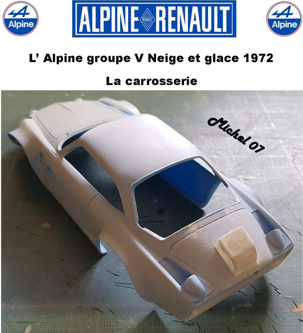 Fil rouge 2021 * Alpine A110 Groupe V Neige et glace 1972 1/24 Heller 80745 + scratch 12_210