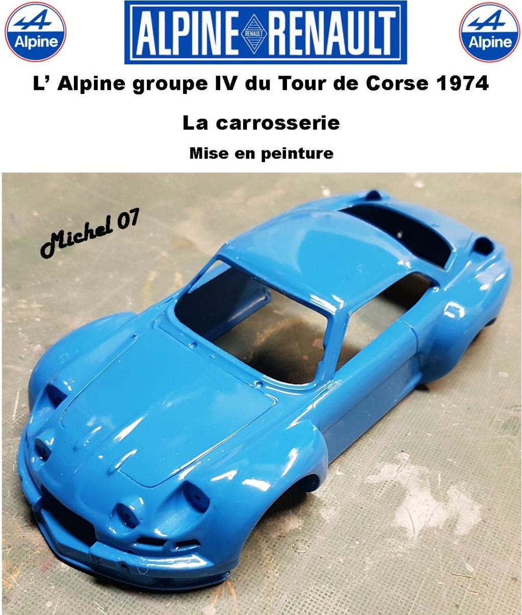 Fil rouge 2021 * Alpine A110 Groupe IV Tour de Corse 1974 1/24 Heller 80745 + transkit 12_410