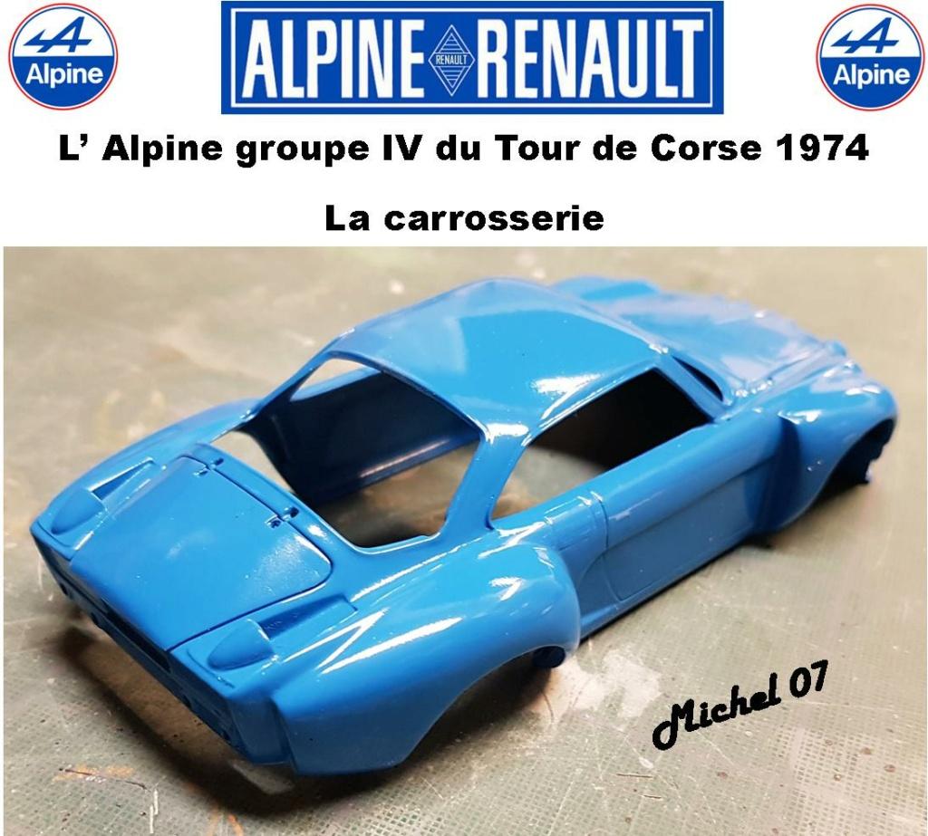 Fil rouge 2021 * Alpine A110 Groupe IV Tour de Corse 1974 1/24 Heller 80745 + transkit 13_310