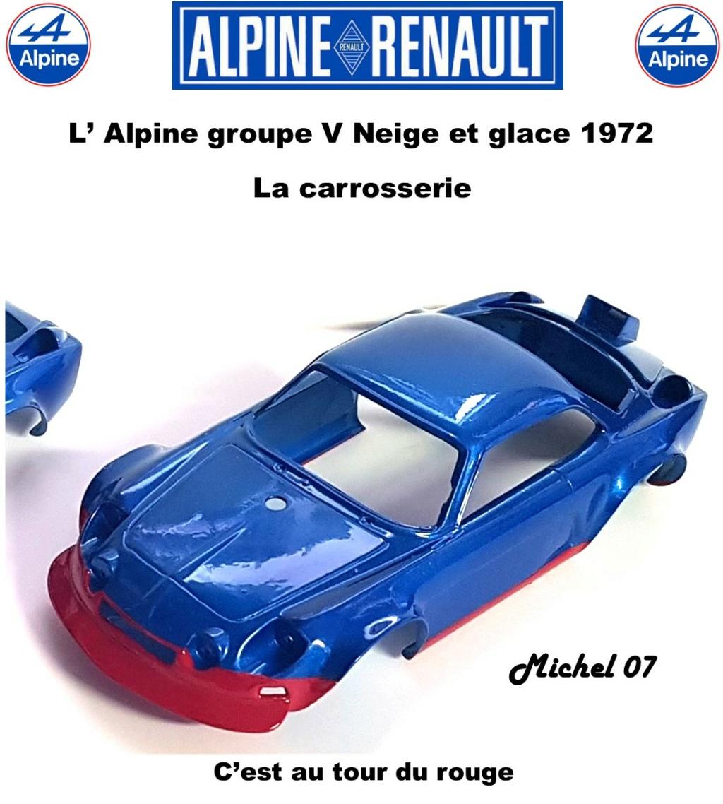 Fil rouge 2021 * Alpine A110 Groupe V Neige et glace 1972 1/24 Heller 80745 + scratch 1417