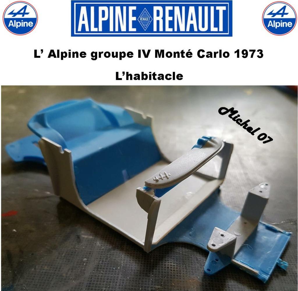 Fil rouge 2021 * Alpine A110 Groupe IV Monté Carlo 1973 1/24 Heller 80745 diorama assistance 14_210