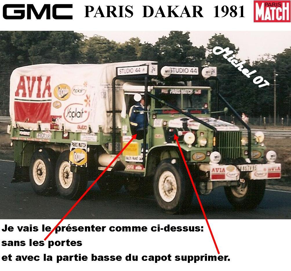 GMC CCKW Paris Dakar 1981 1/24 1516