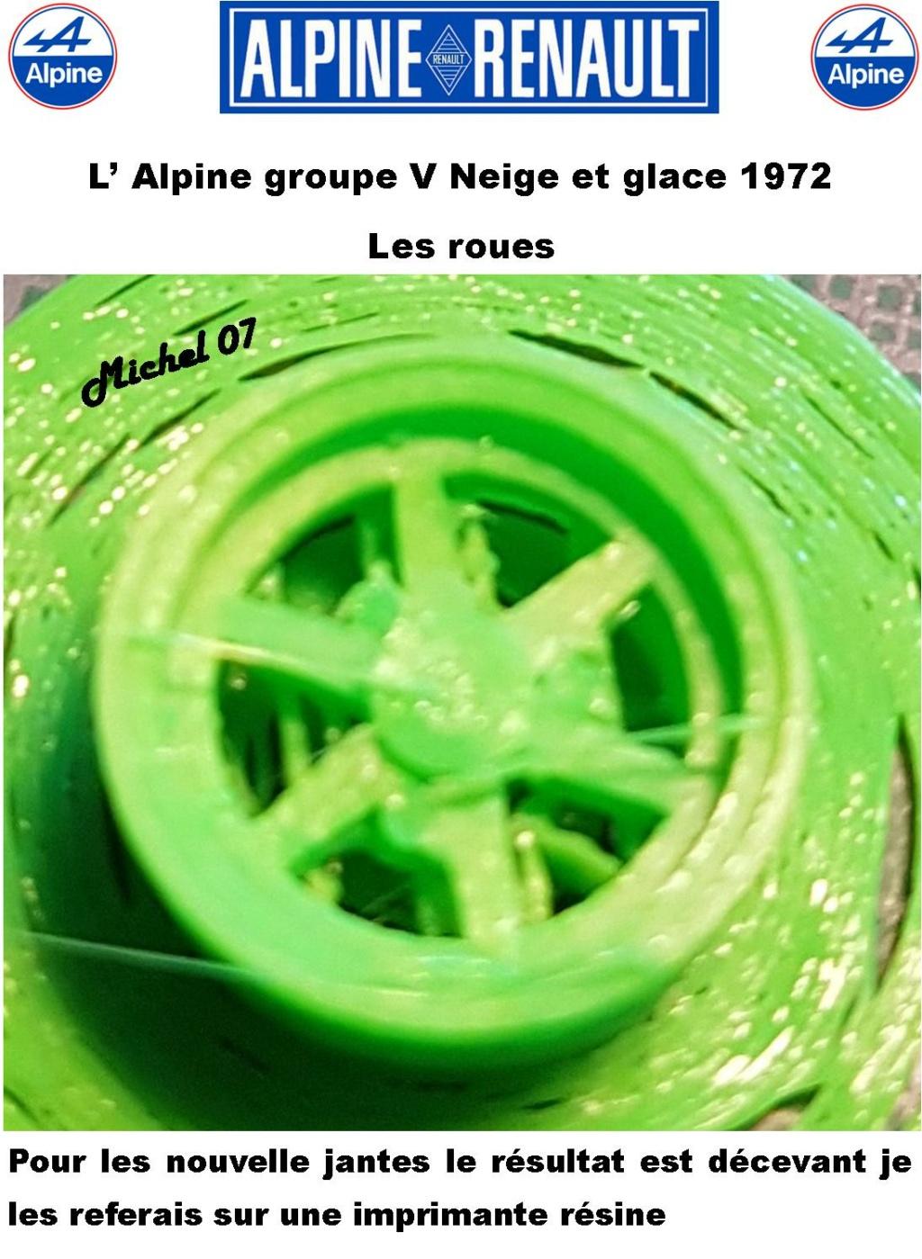 Fil rouge 2021 * Alpine A110 Groupe V Neige et glace 1972 1/24 Heller 80745 + scratch 1618