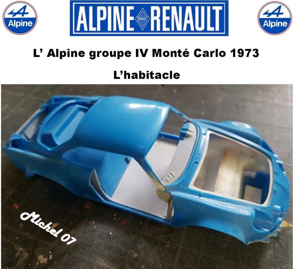 Fil rouge 2021 * Alpine A110 Groupe IV Monté Carlo 1973 1/24 Heller 80745 diorama assistance 17_210