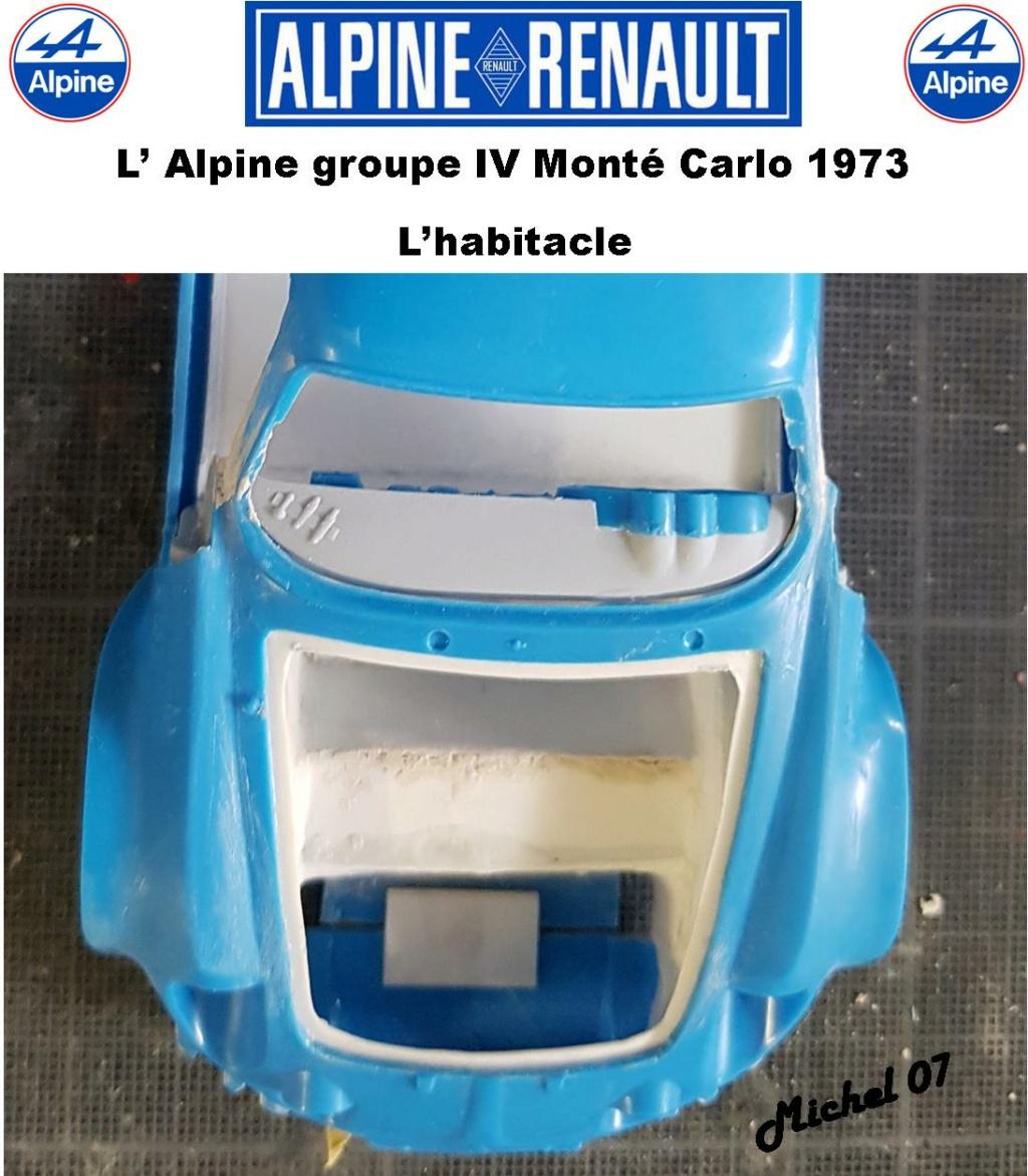 Fil rouge 2021 * Alpine A110 Groupe IV Monté Carlo 1973 1/24 Heller 80745 diorama assistance 18_210