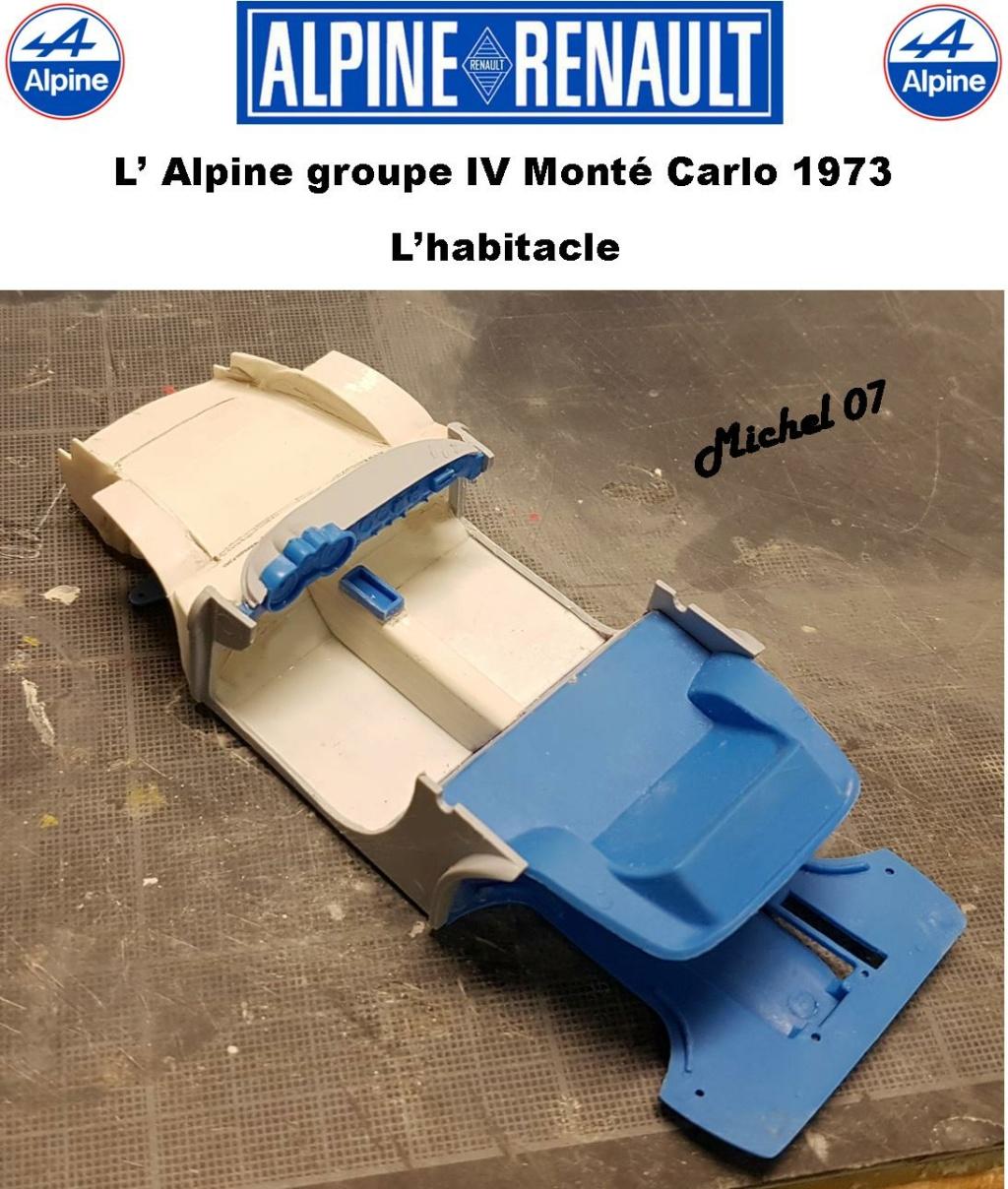 Fil rouge 2021 * Alpine A110 Groupe IV Monté Carlo 1973 1/24 Heller 80745 diorama assistance 20_210