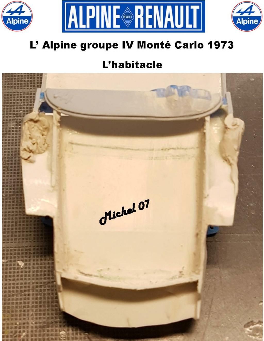 Fil rouge 2021 * Alpine A110 Groupe IV Monté Carlo 1973 1/24 Heller 80745 diorama assistance 21_210