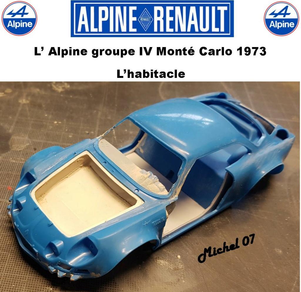 Fil rouge 2021 * Alpine A110 Groupe IV Monté Carlo 1973 1/24 Heller 80745 diorama assistance 22_210