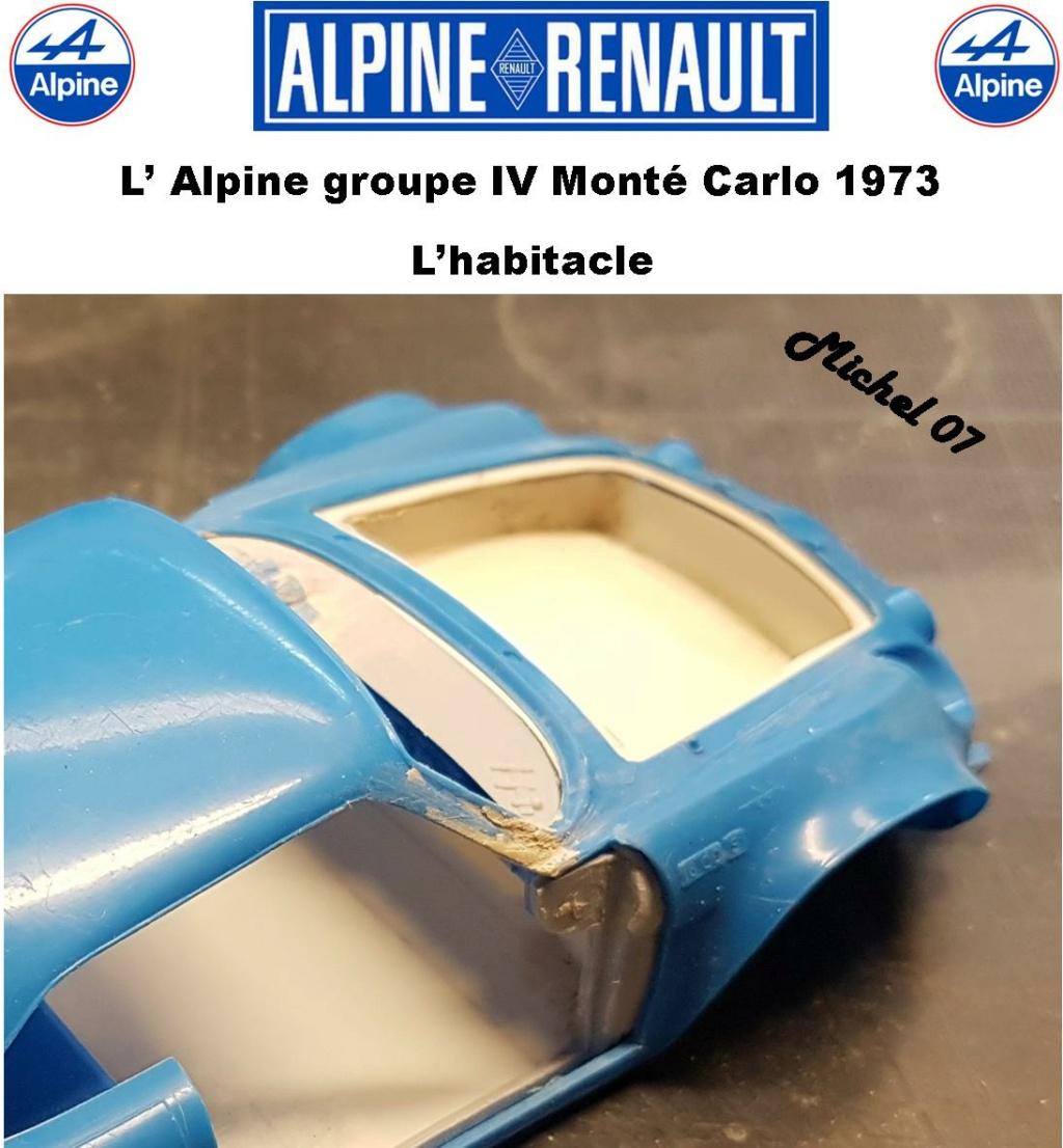 Fil rouge 2021 * Alpine A110 Groupe IV Monté Carlo 1973 1/24 Heller 80745 diorama assistance 23_210