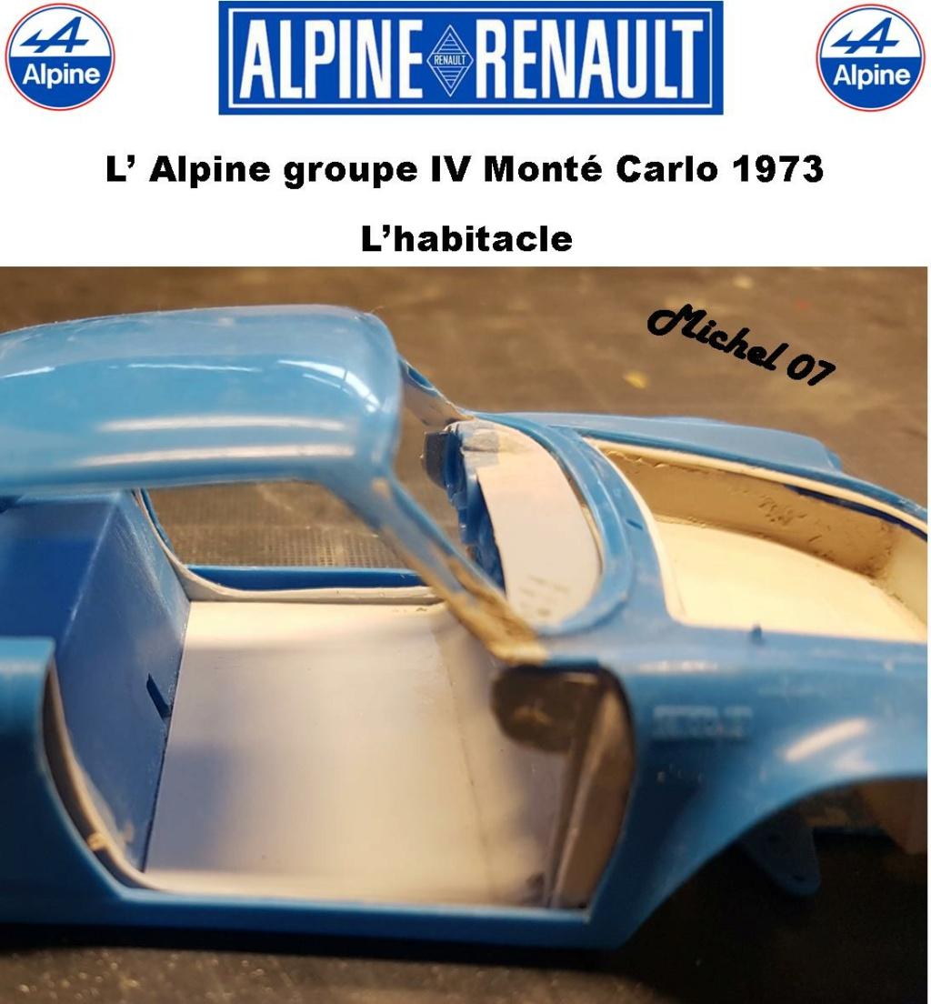 Fil rouge 2021 * Alpine A110 Groupe IV Monté Carlo 1973 1/24 Heller 80745 diorama assistance 24_210