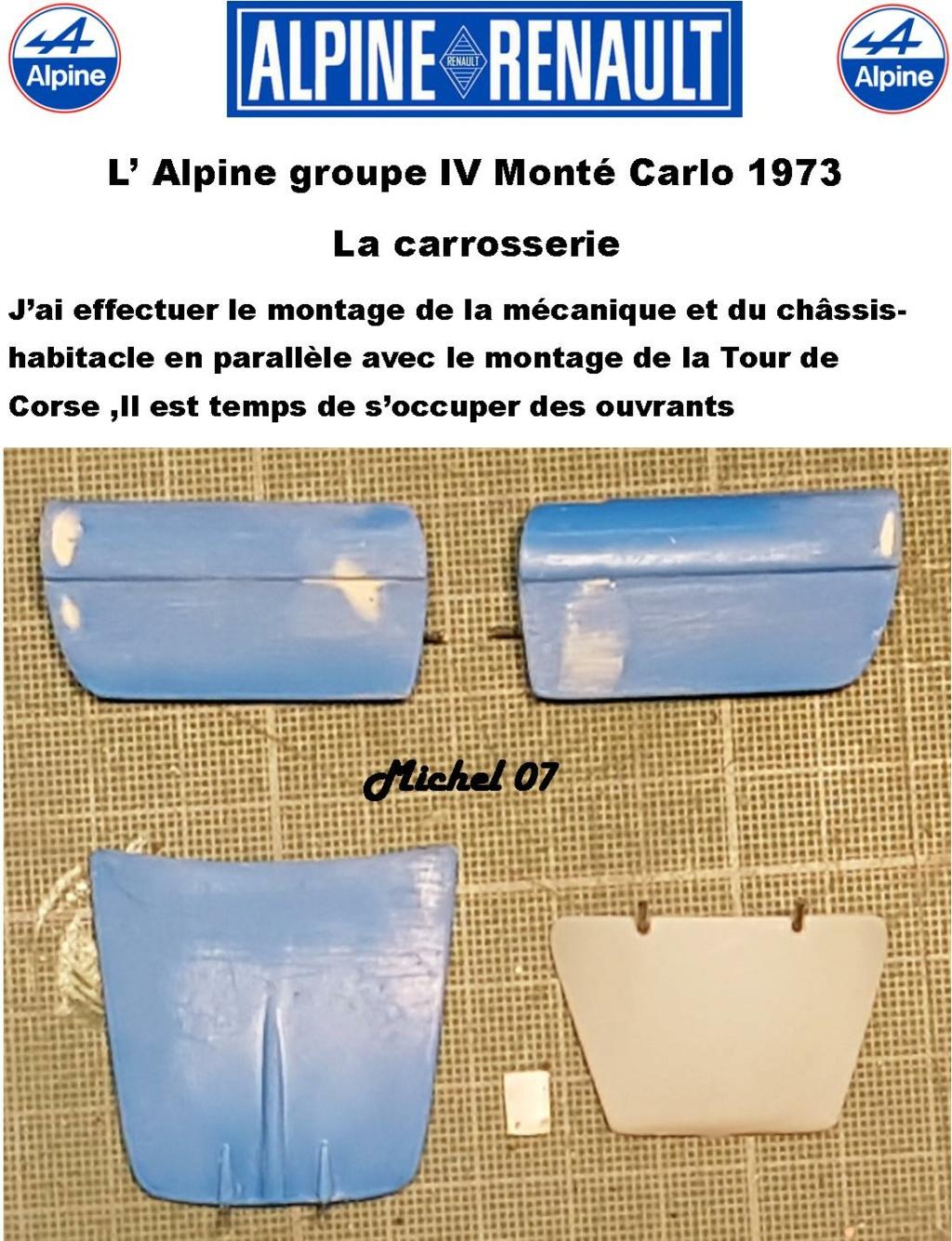 Fil rouge 2021 * Alpine A110 Groupe IV Monté Carlo 1973 1/24 Heller 80745 diorama assistance 25_210