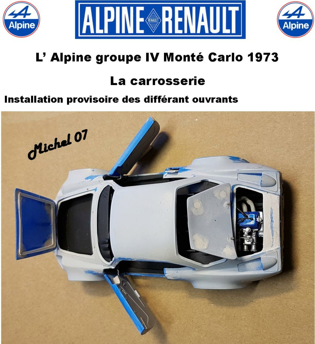 Fil rouge 2021 * Alpine A110 Groupe IV Monté Carlo 1973 1/24 Heller 80745 diorama assistance 26_210