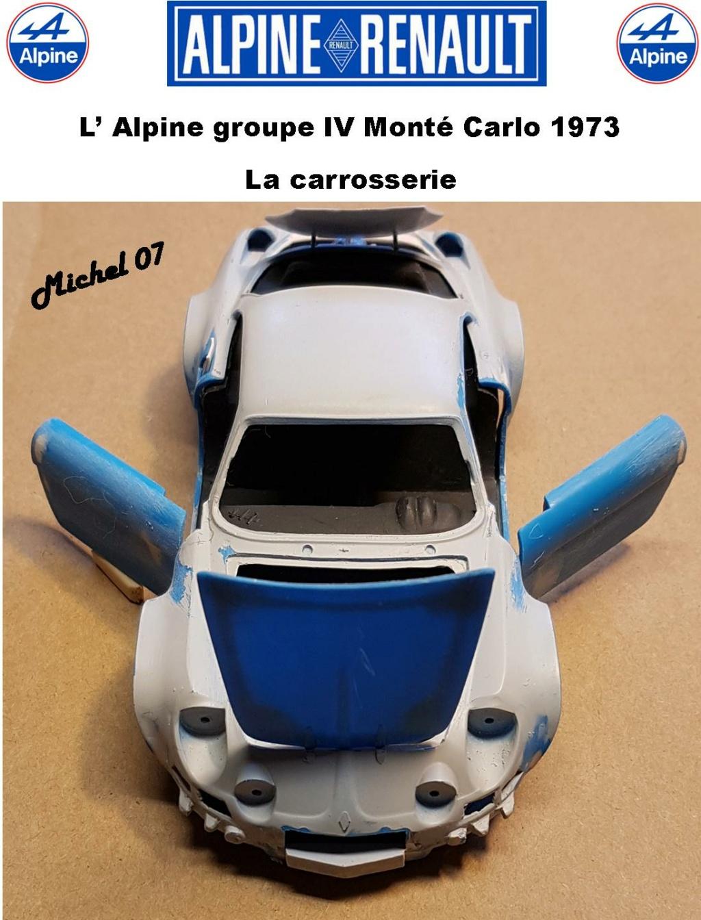 Fil rouge 2021 * Alpine A110 Groupe IV Monté Carlo 1973 1/24 Heller 80745 diorama assistance 27_210