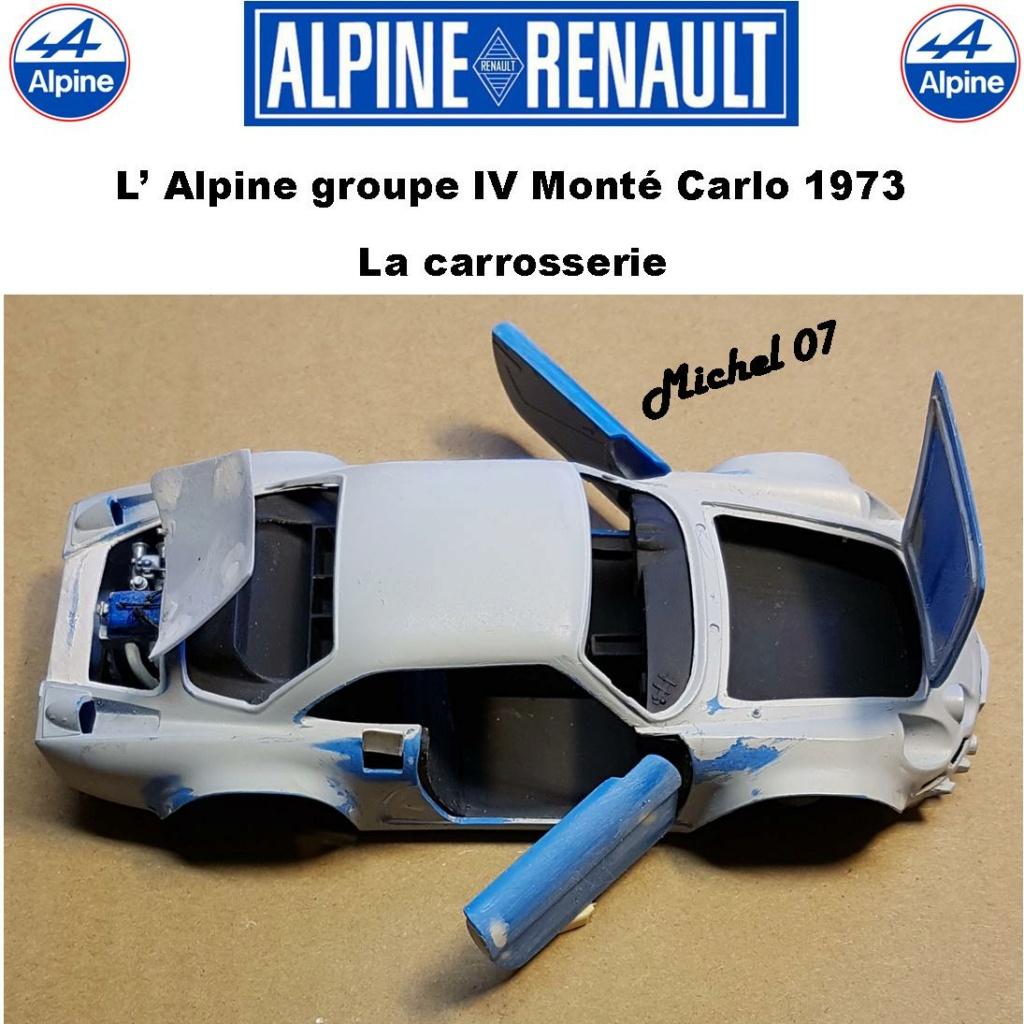 Fil rouge 2021 * Alpine A110 Groupe IV Monté Carlo 1973 1/24 Heller 80745 diorama assistance 28_210