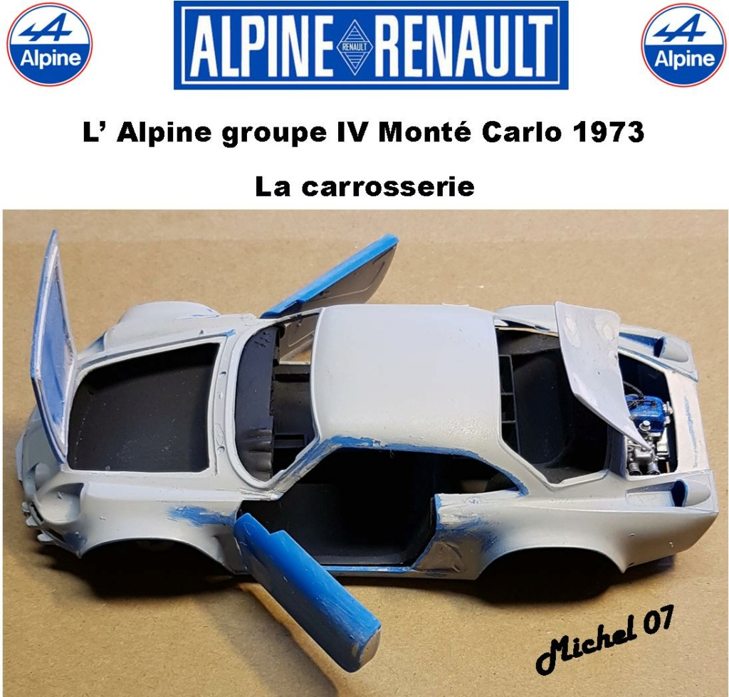 Fil rouge 2021 * Alpine A110 Groupe IV Monté Carlo 1973 1/24 Heller 80745 diorama assistance 29_210