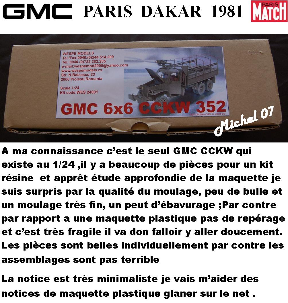 GMC CCKW Paris Dakar 1981 1/24 2_210
