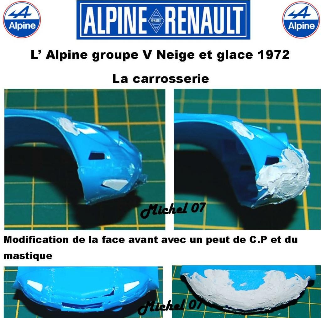 Fil rouge 2021 * Alpine A110 Groupe V Neige et glace 1972 1/24 Heller 80745 + scratch 2_211