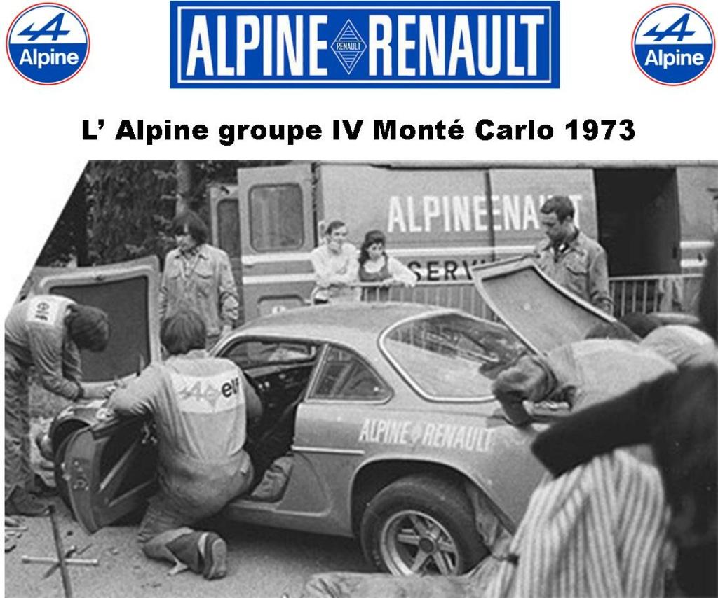 Fil rouge 2021 * Alpine A110 Groupe IV Monté Carlo 1973 1/24 Heller 80745 diorama assistance 2_310