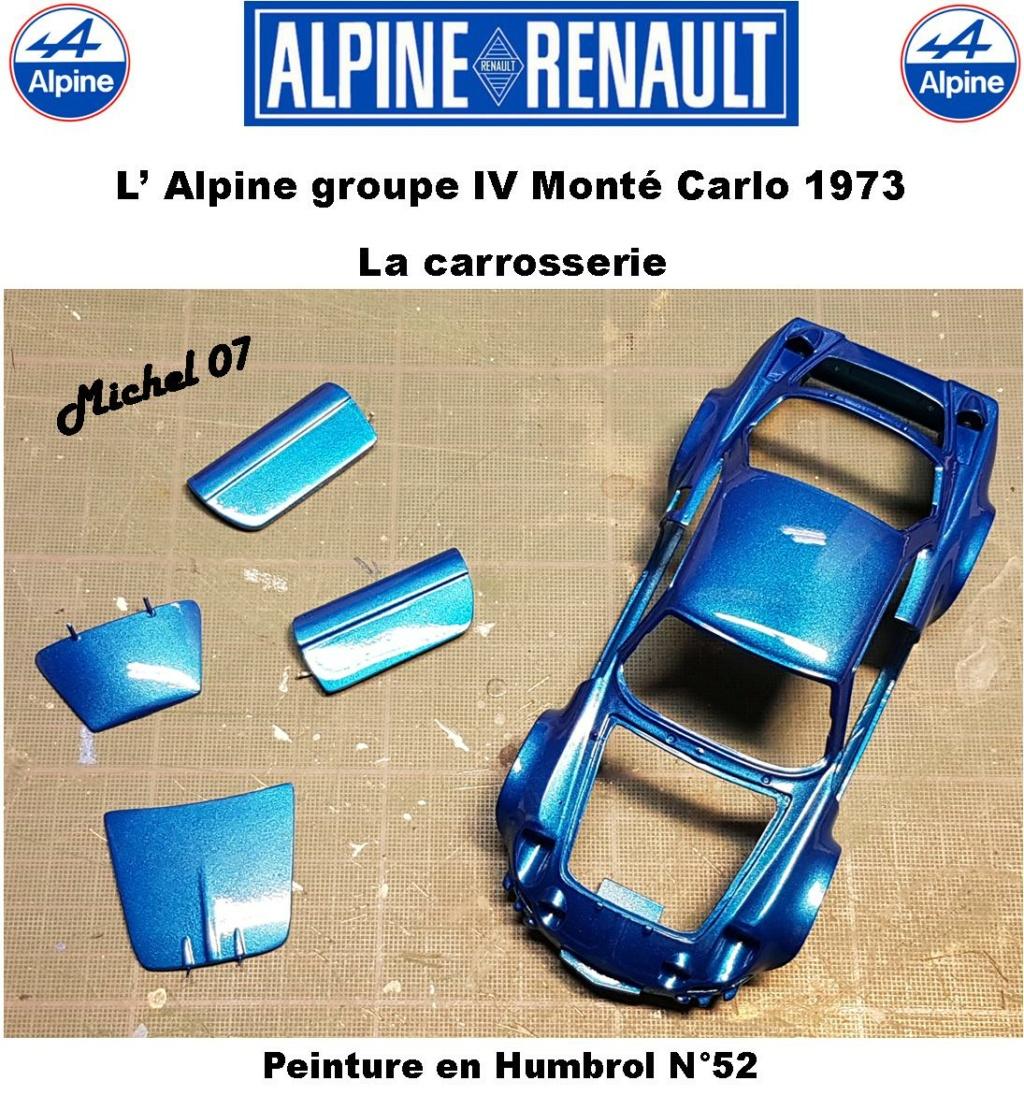Fil rouge 2021 * Alpine A110 Groupe IV Monté Carlo 1973 1/24 Heller 80745 diorama assistance 3017