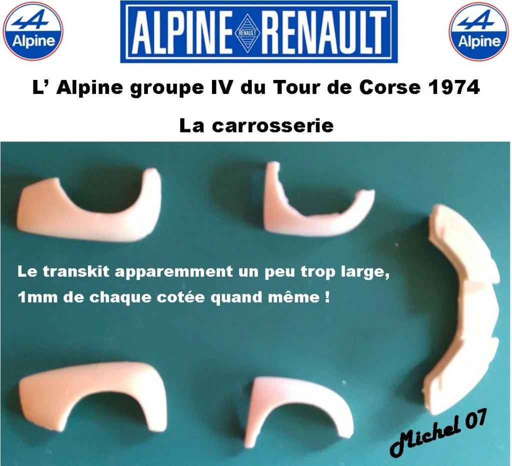 Fil rouge 2021 * Alpine A110 Groupe IV Tour de Corse 1974 1/24 Heller 80745 + transkit 314