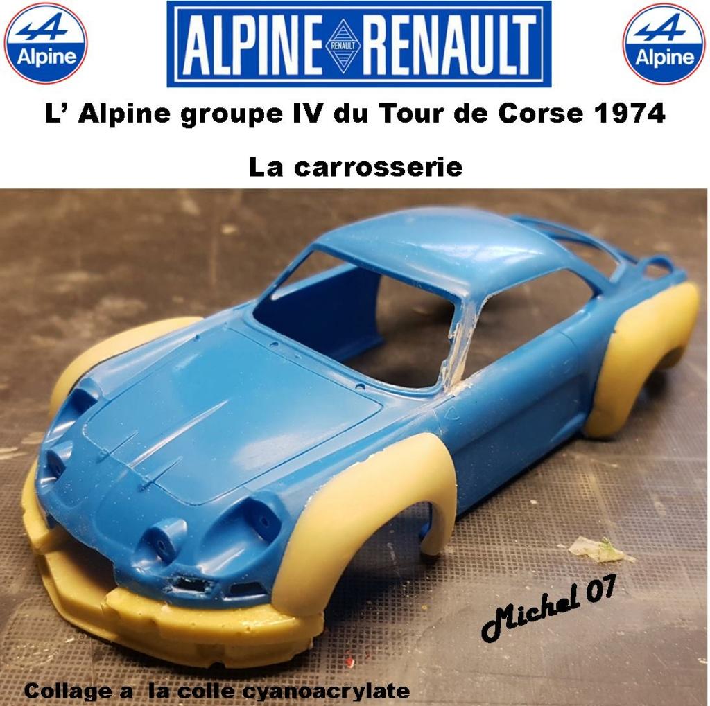 Fil rouge 2021 * Alpine A110 Groupe IV Tour de Corse 1974 1/24 Heller 80745 + transkit 413