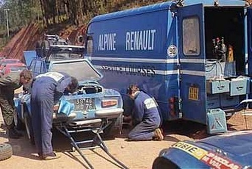 Fil rouge 2021 * Alpine A110 Groupe IV Monté Carlo 1973 1/24 Heller 80745 diorama assistance 44-b5010