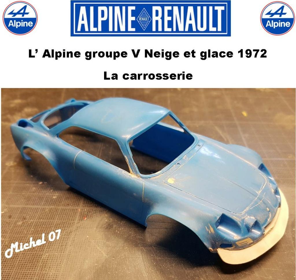 Fil rouge 2021 * Alpine A110 Groupe V Neige et glace 1972 1/24 Heller 80745 + scratch 4_211