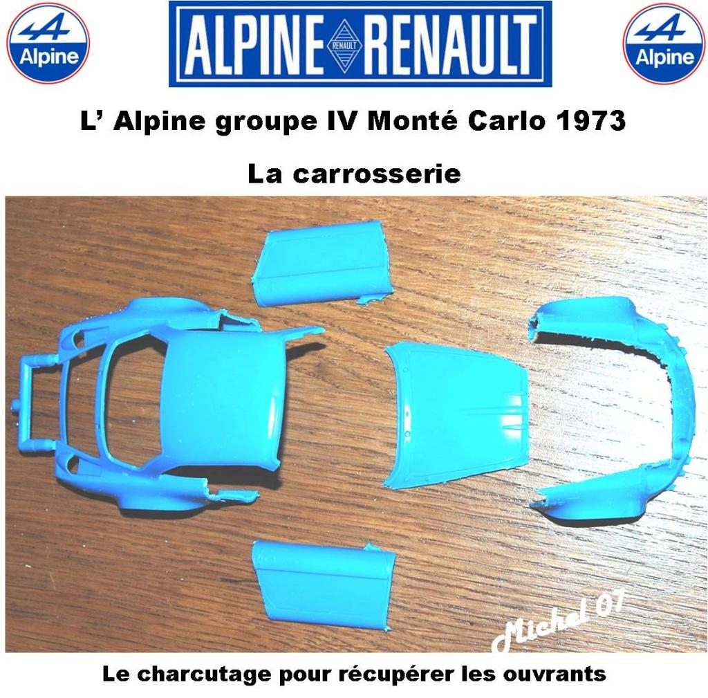 Fil rouge 2021 * Alpine A110 Groupe IV Monté Carlo 1973 1/24 Heller 80745 diorama assistance 4_310