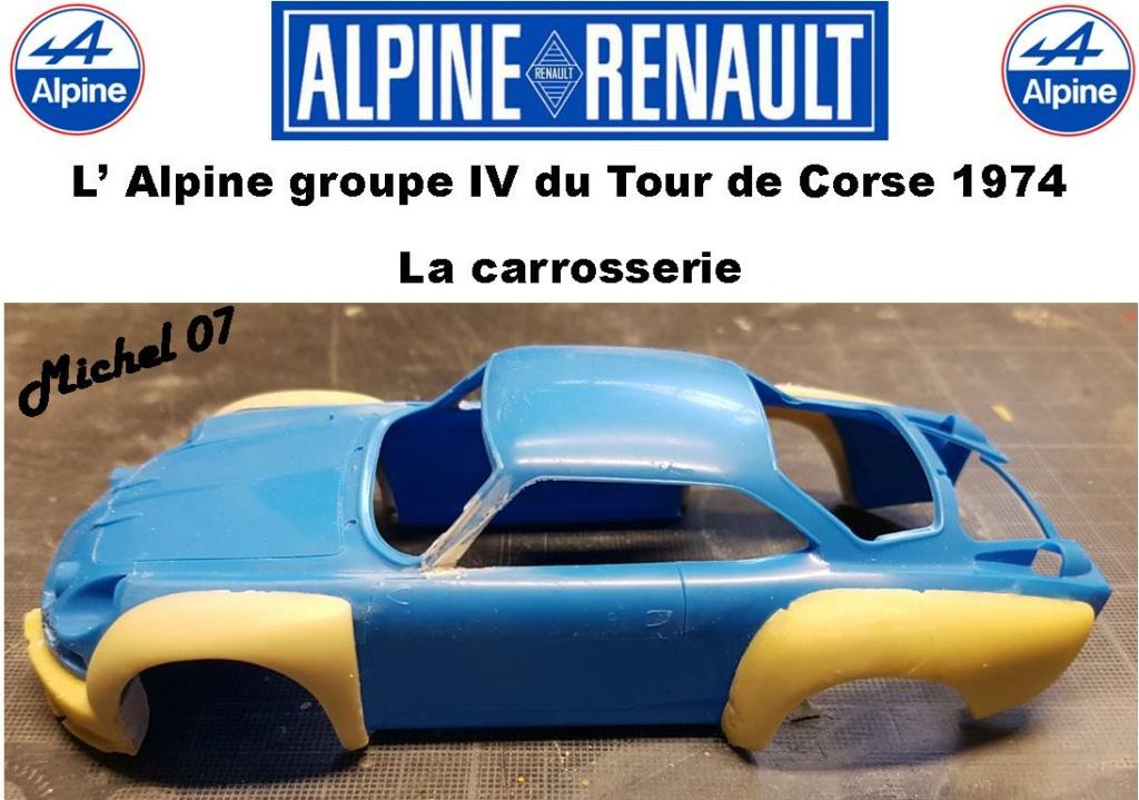 Fil rouge 2021 * Alpine A110 Groupe IV Tour de Corse 1974 1/24 Heller 80745 + transkit 513