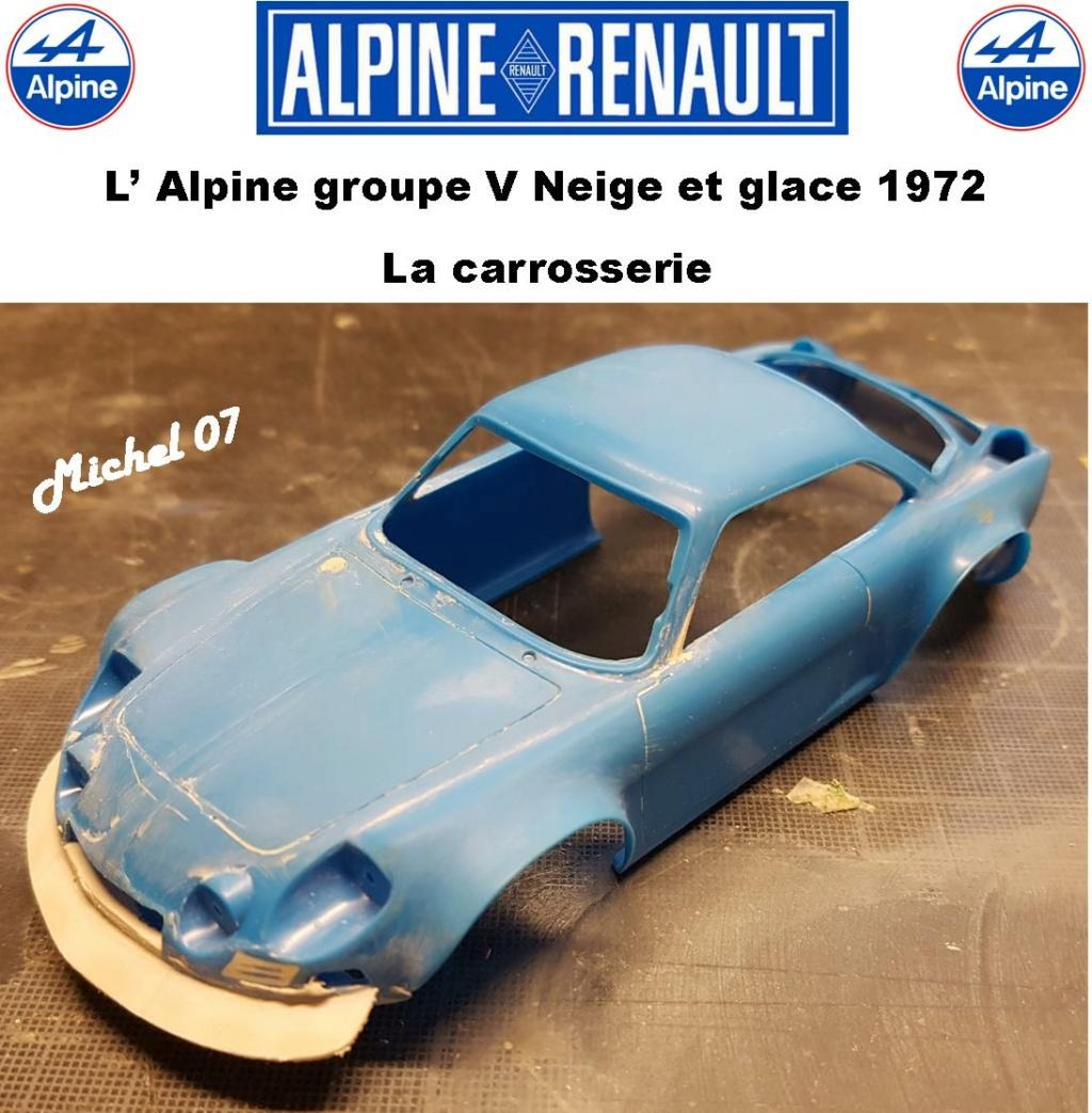 Fil rouge 2021 * Alpine A110 Groupe V Neige et glace 1972 1/24 Heller 80745 + scratch 5_211