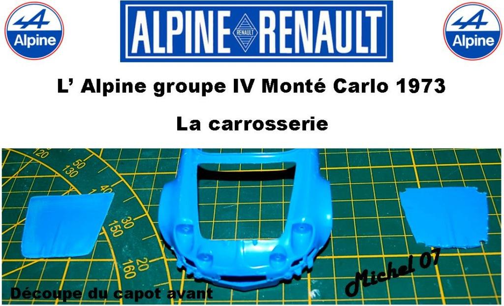 Fil rouge 2021 * Alpine A110 Groupe IV Monté Carlo 1973 1/24 Heller 80745 diorama assistance 5_310