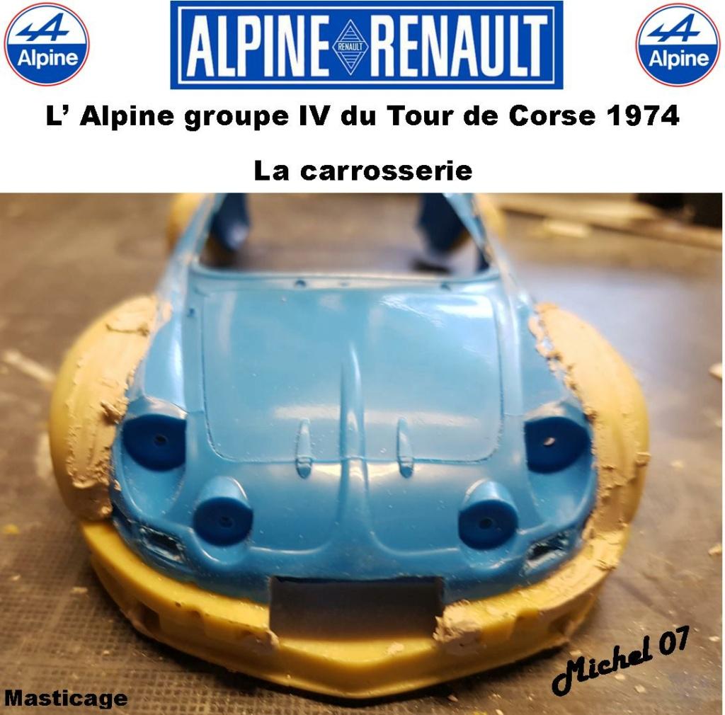 Fil rouge 2021 * Alpine A110 Groupe IV Tour de Corse 1974 1/24 Heller 80745 + transkit 612