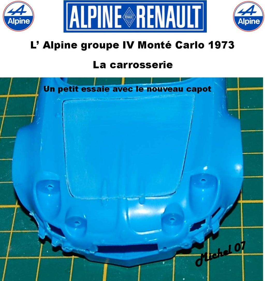Fil rouge 2021 * Alpine A110 Groupe IV Monté Carlo 1973 1/24 Heller 80745 diorama assistance 6_310