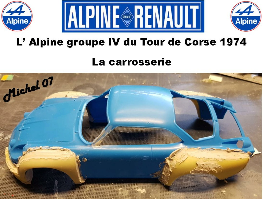 Fil rouge 2021 * Alpine A110 Groupe IV Tour de Corse 1974 1/24 Heller 80745 + transkit 713