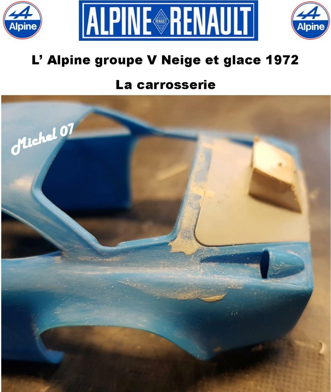 Fil rouge 2021 * Alpine A110 Groupe V Neige et glace 1972 1/24 Heller 80745 + scratch 7_211