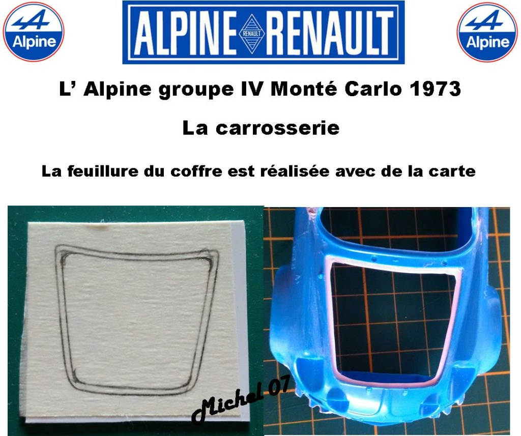 Fil rouge 2021 * Alpine A110 Groupe IV Monté Carlo 1973 1/24 Heller 80745 diorama assistance 7_310