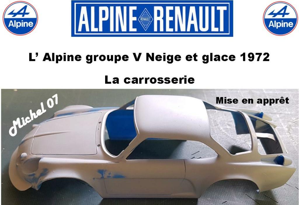 Fil rouge 2021 * Alpine A110 Groupe V Neige et glace 1972 1/24 Heller 80745 + scratch 8_210
