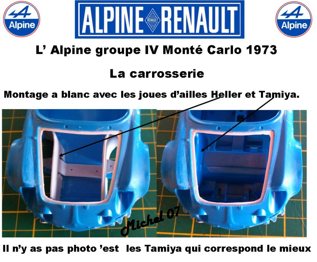 Fil rouge 2021 * Alpine A110 Groupe IV Monté Carlo 1973 1/24 Heller 80745 diorama assistance 8_310