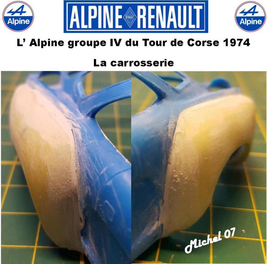 Fil rouge 2021 * Alpine A110 Groupe IV Tour de Corse 1974 1/24 Heller 80745 + transkit 913