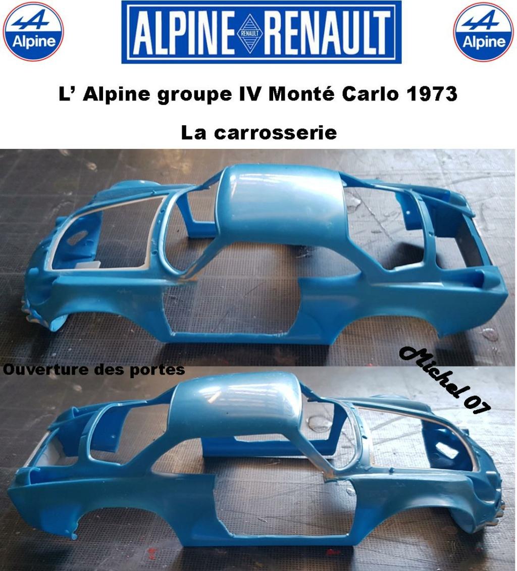 Fil rouge 2021 * Alpine A110 Groupe IV Monté Carlo 1973 1/24 Heller 80745 diorama assistance 9_311
