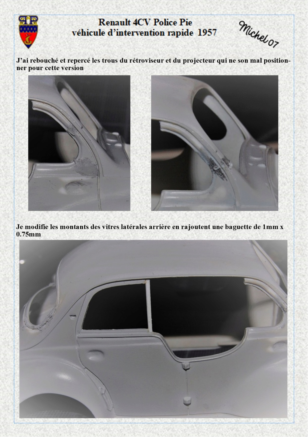renault 4 cv pie 1957 Heller 1/24 (Terminé) Image137